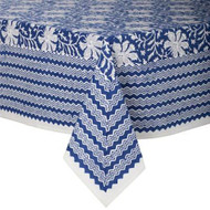 Tablecloth - Lakhsmi - Blue from Bungalow in Denmark