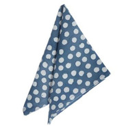 "Napkin - Bindu - Dusty Blue - 18""SQ fron Bungalow in Danemark"