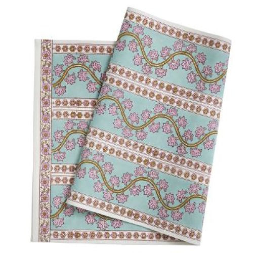 """Table Runner - Orchid - Turquoise - 20""""x 63"""""""