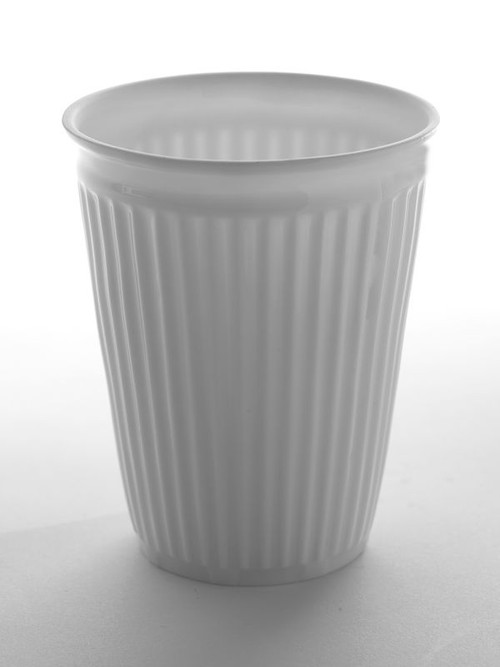 Latte Cup - Creased - Porcelain from Serax in Belgium