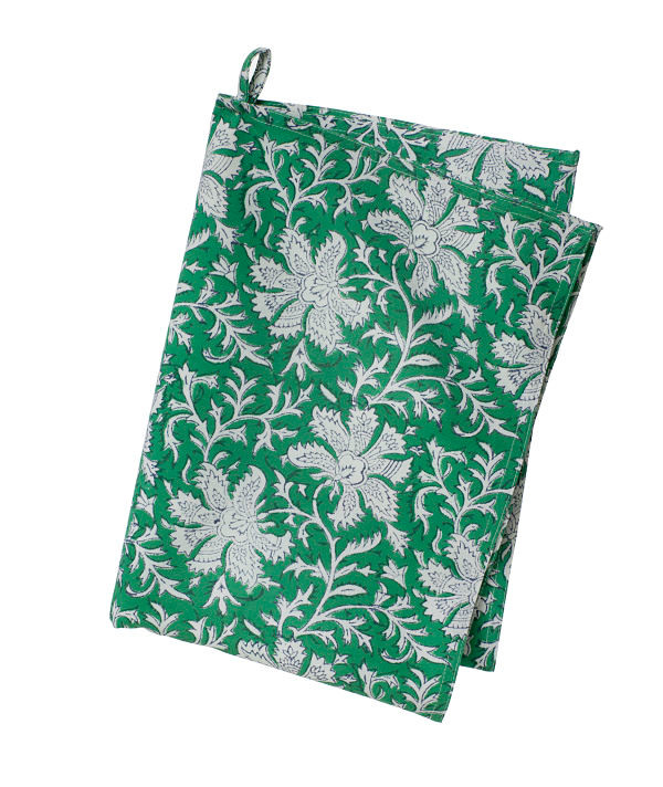 Colorful Contemporary Kitchen Towel   Lakhsmi   Green   Cotton