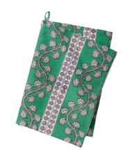Colorful Contemporary Kitchen Towel   Orchid   Green  Cotton