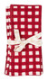 """Napkin from Chamois in Denmark - Check - Red - Set of 2 - 20"""" SQ"""