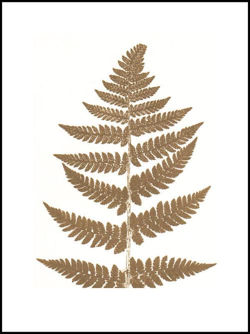 """Contemporary Scandinavian Print - Fern Gold - 12"""" x 16"""""""
