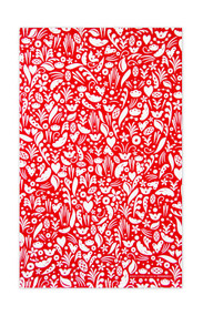 Swedish kitchen towel - Dala - Red - Cotton