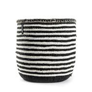 Kiondo Basket - Thin Stripes Black & White