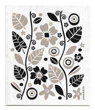 Swedish Dishcloth - Garden - Black