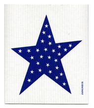 Swedish Dishcloth - Big Star - Blue