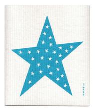 Swedish Dishcloth - Big Star - Turquoise