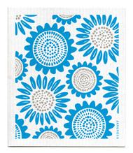 Swedish Dishcloth - Sunflower - Turquoise