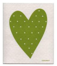 Swedish Dishcloth - Heart - Green