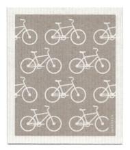 Swedish Dishcloth - Bikes - Grey