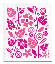 Swedish Dishcloth - Garden - Pink