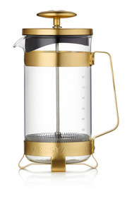 French Press Coffee Pot - Midnight Gold