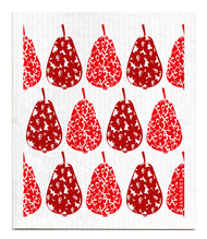 Swedish Dishcloth - Pears - Red