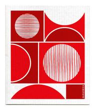 Swedish Dishcloth - Circles - Red