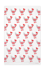 Swedish Kitchen Towels - Hen - Grey