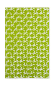 Swedish Kitchen Towels - Bikes - Green