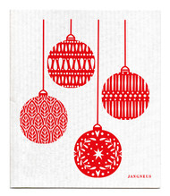 Swedish Dishcloth - Christmas Decoration - Red
