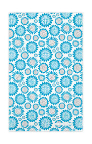 Swedish Kitchen Towels - Sunflower - Turquoise