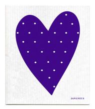 Swedish Dishcloth - Heart - Purple