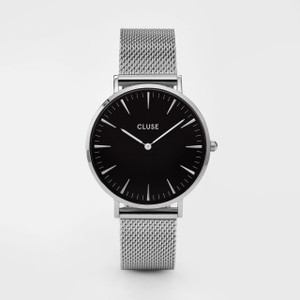 Cluse La Boheme Mesh Silver/Black Watch