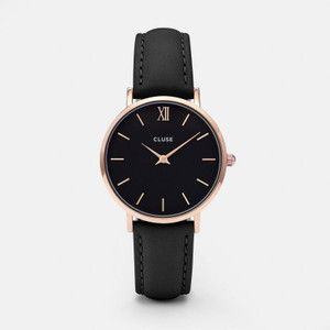 Cluse Minuit Rose Gold Black/ Black Watch