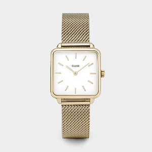 Cluse La Garconne Gold Mesh/White Watch