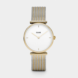 Cluse Triomphe Gold Bicolor Mesh Watch