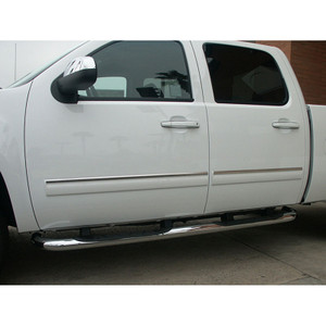 Auto Reflections | Side Molding and Rocker Panels | 07-13 GMC Sierra HD | R3359-Sierra-HD-Chrome-Door-Trim