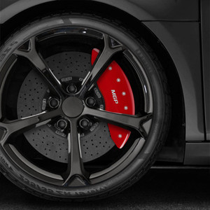 Front and Rear MGP Caliper Covers for 2000-2002 Mercedes E430 4Matic