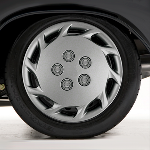 """Set of Four 14"""" Silver ABS Wheel Covers for 1997-1999 Toyota Camry (Push-on)"""