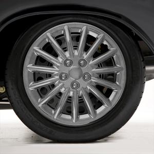"Set of Four 16"" Chrome ABS 15 Spoke Wheel Covers (Metal Clip Retention)"