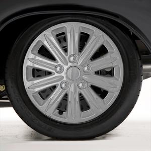 "Set of Four 15"" Chrome ABS 10 Spoke Wheel Covers (Push-on)"