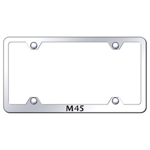 Infiniti M45 on Stainless Steel Wide Body License Plate Frame