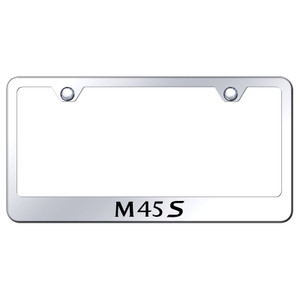 Infiniti M45S on Stainless Steel License Plate Frame - Officially Licensed