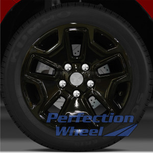 2013-2015 Jeep Wrangler 17x7.5 Factory Wheel (Black Full Face Sticker)