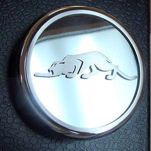 Chrome Oil Fill Cap Cover w/Kat Logo&Brushed Accent for 1999-02 Chrysler Prowler