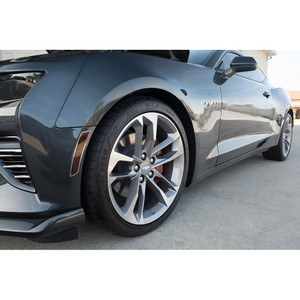 Side Marker Black Out Kit w/Polished Stainless Steel trim ring for 2016 Camaro