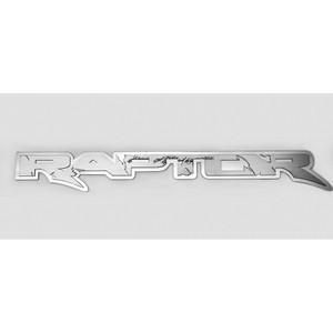 """Polished Stainless Badge w/Brushed """"Raptor"""" for 2010-2014 Ford F-150 SVT Raptor"""