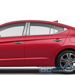Brite Chrome | Pillar Post Covers and Trim | 17 Hyundai Elantra | BCIP258
