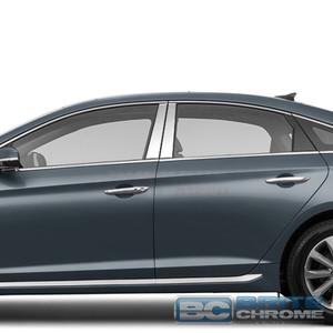 Brite Chrome | Pillar Post Covers and Trim | 15-17 Hyundai Sonata | BCIP261