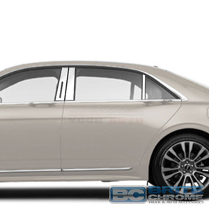 Brite Chrome | Pillar Post Covers and Trim | 17 Lincoln Continental | BCIP273