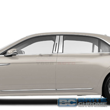 Brite Chrome | Pillar Post Covers and Trim | 17 Lincoln Continental | BCIP274