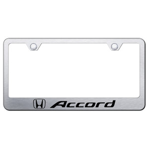 Au-TOMOTIVE GOLD | License Plate Covers and Frames | Honda Accord | AUGD5858