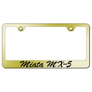 Au-TOMOTIVE GOLD | License Plate Covers and Frames | Mazda Miata | AUGD7137