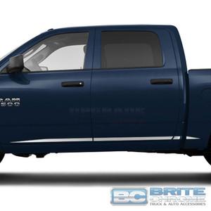 Brite Chrome   Side Molding and Rocker Panels   09-17 Dodge Ram 1500   BCIR090