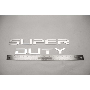 Polished Stainless Steel Front Letter Inserts for 2017 Ford Super Duty