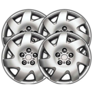 15 Inch Universal Silver Metallic Clip-On Hubcap Covers 13915-S-Hubcap-Covers