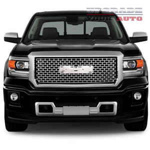 Full Replacement Chrome Factory Style Denali Grille fit for 2014-2015 GMC Sierra